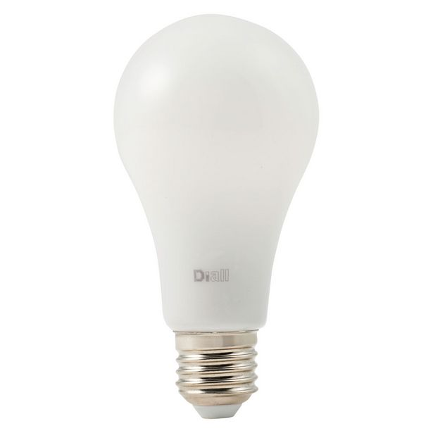 Oferta de BOMBILLA LED DIALL GLS E27 9,5 W LUZ AMARILLA A NEUTRA por 17,95€