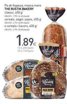 Oferta de Hogaza the rustik bakery por 1,89€