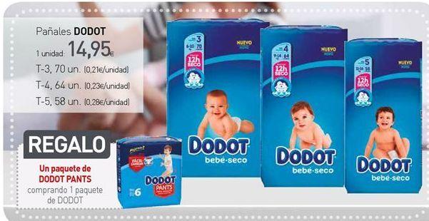 Oferta de Pañales Dodot por 14,95€