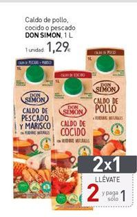 Oferta de Caldo de pollo Don Simón por 1,29€