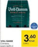 Oferta de Cerveza Voll-Damm por 3,6€