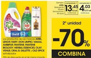 Oferta de Detergente Ariel por 13,45€