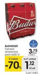 Oferta de Cerveza americana Budweiser por 3,75€