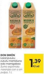 Oferta de Zumo Don Simón por 1,39€