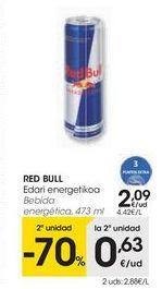 Oferta de Bebida energética Red Bull por 2,09€