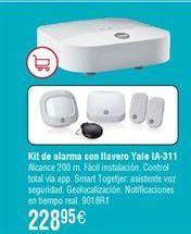 Oferta de Kit de alarma con llavero YALE IA-311 Smart Home por 228,95€