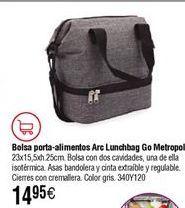 Oferta de Bolsa porta- alimentos ARC QUID Lunchbag Go Metropoli por 14,95€