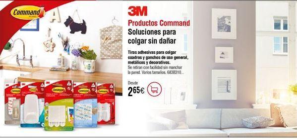 Oferta de Tiras cuelgacuadros serie Command 3M blancas por 2,65€