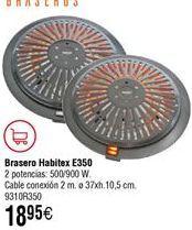 Oferta de Brasero Habitex por 18,95€