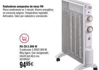Oferta de Radiadores compacto de mica FM por 94,95€
