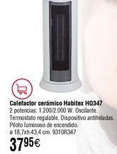 Oferta de Calefactor cerámico Habitex por 37,95€