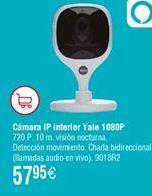 Oferta de Cámara IP interior YALE 1080P por 57,95€