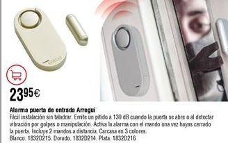 Oferta de Alarma puerta de entrada ARREGUI con mando a distancia por 23,95€