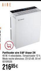 Oferta de Purificador de aire S&P Airpur  por 216,95€