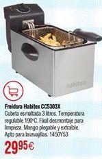 Oferta de Freidora HABITEX CC5303X 2000W 3L por 29,95€