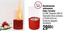 Oferta de Biochimenea de mesa Ruby Torcello  por 29,9€