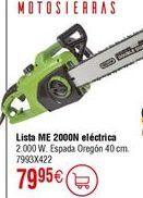 Oferta de Motosierra eléctrica LISTA ME2000N por 79,95€