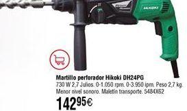 Oferta de Martillo perforador HITACHI DH24PG por 142,95€