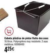 Oferta de Cubeta de pintor RATIO 16L por 4,25€