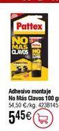 Oferta de Pattex No Más Clavos Adhesivo de montaje color blanco en formato botella 100gr por 5,45€