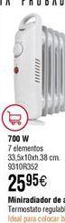 Oferta de Mini radiador de aceite Habitex  por 25,95€