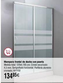 Oferta de Mampara ducha frontal 1 puerta por 134,95€