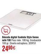 Oferta de Báscula digital baño SOEHNLE Style Sense Safe 100 por 24,9€