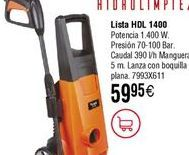 Oferta de Hidrolimpiadora LISTA HDL 1400 por 59,95€