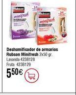 Oferta de Deshumidificador de armarios Rubson por 5,5€