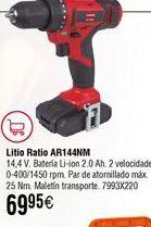 Oferta de Taladro RATIO AR144NM con batería de litio por 69,95€