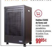 Oferta de Estufa de gas Habitex por 99,95€