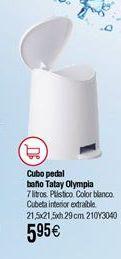 Oferta de Cubo pedal baño TATAY Standard por 5,95€