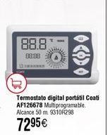 Oferta de Termostato COATI digital portátil AF126678 por 72,95€
