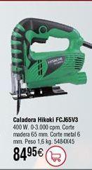 Oferta de Sierra caladora HITACHI FCJ65V3 Profesional por 84,95€