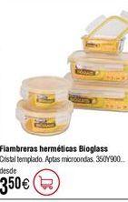 Oferta de Fiambreras herméticas rectangulares KOMAX Bioglass por 3,5€