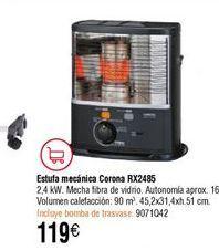 Oferta de Estufa de parafina Corona por 119€