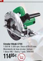 Oferta de Sierra circular HIKOKI CT7SS por 114,95€