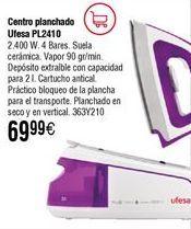 Oferta de Centro de planchado UFESA PL2410 por 69,9€
