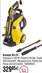 Oferta de Hidrolimpiadora KARCHER K5-FC por 329,95€