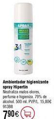 Oferta de Ambientador Higienizante HIPERTIN en spray por 7,9€