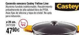 Oferta de Cacerola cóncava CASTEY Yellow Line por 47,9€