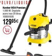 Oferta de Aspirador KARCHER WD4 Premium por 129,95€