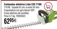Oferta de Cortasetos eléctrico LISTA CSE 710N por 62,95€