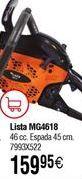 Oferta de Motosierra de gasolina LISTA MG4618 por 159,95€
