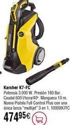 Oferta de Hidrolimpiadora KARCHER K7-FC por 474,95€