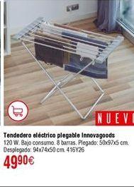 Oferta de Tendedero eléctrico plegable INNOVAGOODS 120W por 49,9€