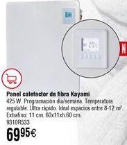 Oferta de Panel calefactor Kayami por 69,95€