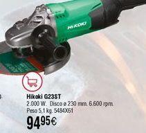 Oferta de Amoladora eléctrica HIKOKI G23STZ por 94,95€