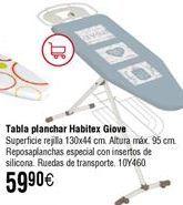 Oferta de Tabla de planchar HABITEX 130x44 cm por 59,9€