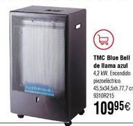 Oferta de Estufa de gas TMC Blue Bell de llama azul por 109,95€
